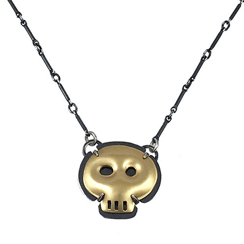 Tiny Skull Necklace by Lisa Crowder