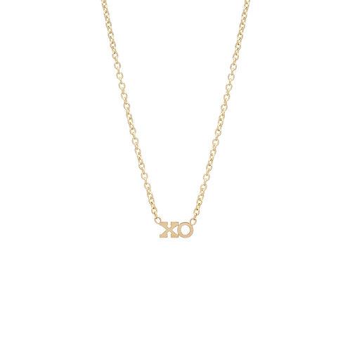 14k Itty Bitty XO Necklace by Zoe Chicco