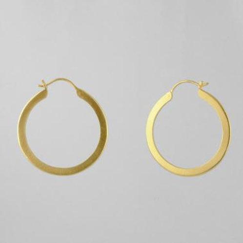 Flat Medium Hoop Earring by Jane Diaz