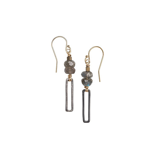 Framed Labradorite Earrings by Original Hardware