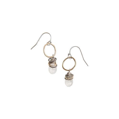 Full Circle Gemstone Earrings with Moonstone by Original Hardware
