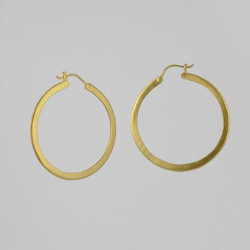 Large Waffer Thin Hoops