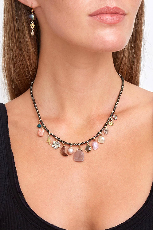 Peacock Pearl and Abalone Shell Voyage Necklace by Chan Luu