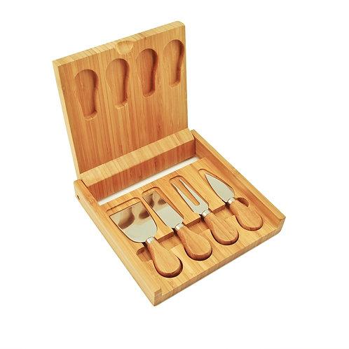 Bamboo Cheese Board & Tool Set