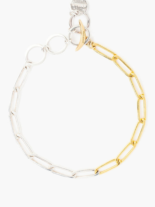 Silver & Gold Plated Link Bracelet by Chan Luu
