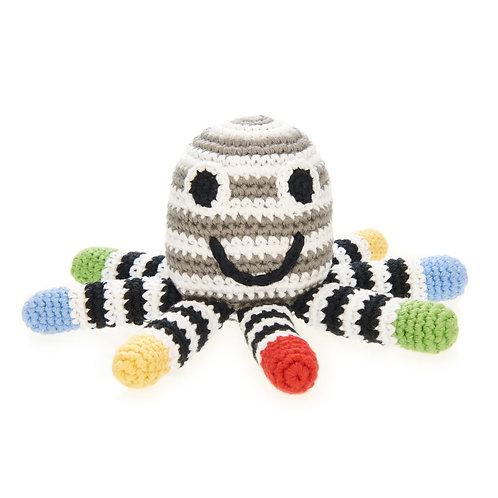 Crocheted Octopus Rattle