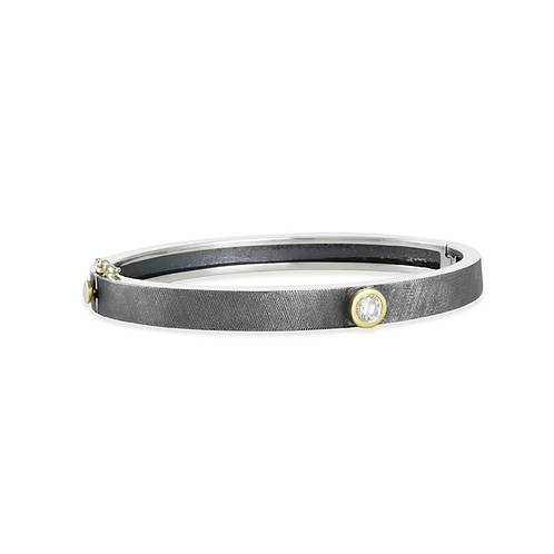 Junia Silver Single Diamond Bracelet by Rene Escobar