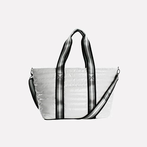 Wingman Bag in White Patent by Think Royln