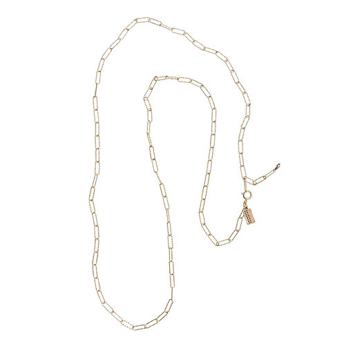 Paperclip Chain Necklace in Gold by Original Hardware