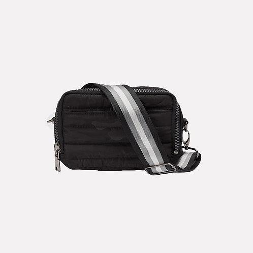 Double Zip Diva Bag in Black Camo