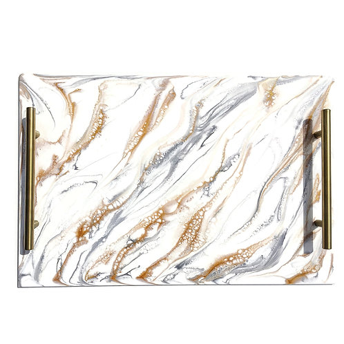 Resin Serving Trays with Handles