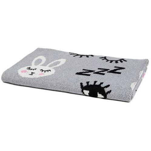 Eco Baby Bunny Throw Blanket