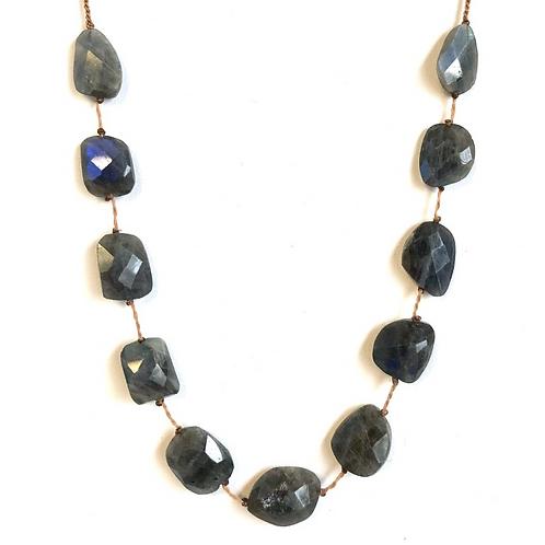 11 Stone Labradorite Tassel Necklace By Lena Skadegard