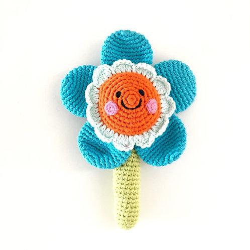 Crocheted Flower Rattle