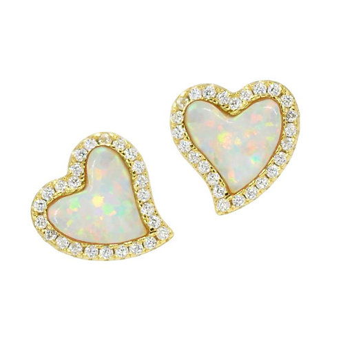 Amore Heart Studs