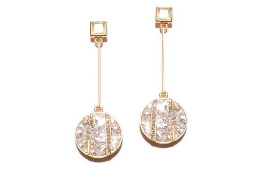 18k Gold Vermeil & Diamond Rumeli Earring
