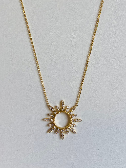 Diamond Sun Pendant by Sophia by Design