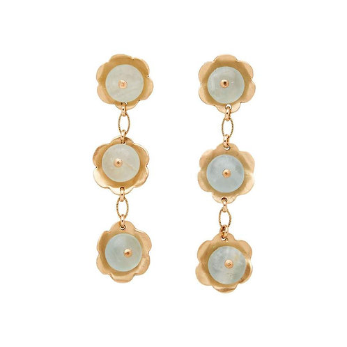 Daisy Bronze Aquamarine Earrings by Julie Cohn