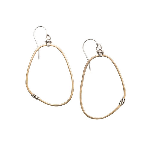 Medium Freeform Earrings with Yellow Bronze by Original Hardware
