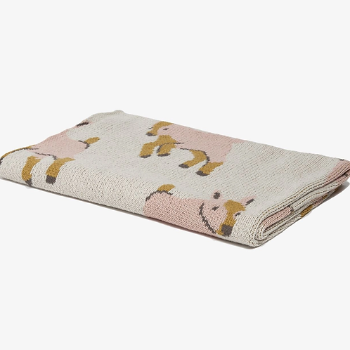 Eco Baby Goat Throw in Pink by In2green