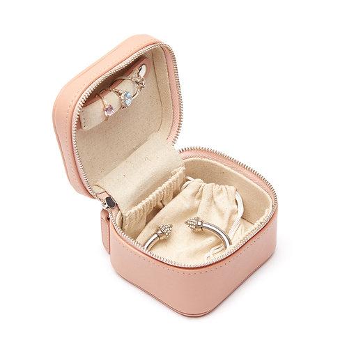 Luna Petite Travel Jewelry Case in Blush