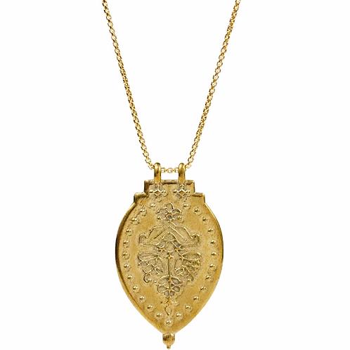 """Laxmi Shield Necklace""""Good Fortune & Abundance"""" by Lulu Designs"""