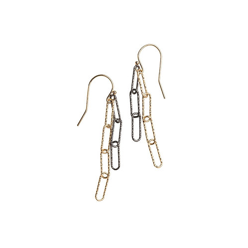 Mixed Metal Paperclip Earrings by Original Hardware
