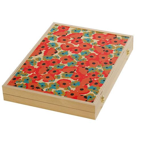 Poppy Red Tabletop Backgammon