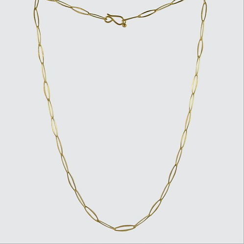 Delicate Artisan Oval Link Chain Necklace by Jane Diaz