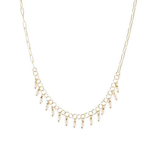 Laurel Multi-drop Pearl Necklace by Kate Winternitz