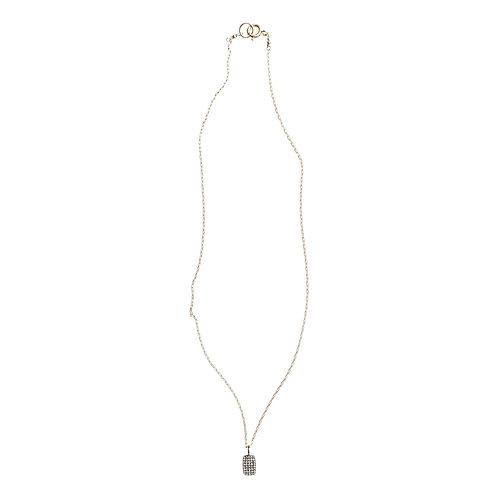 Pave Diamond Dog Tag Necklace by Original Hardware