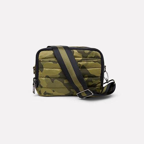 Double Zip Diva Bag in Olive Camo