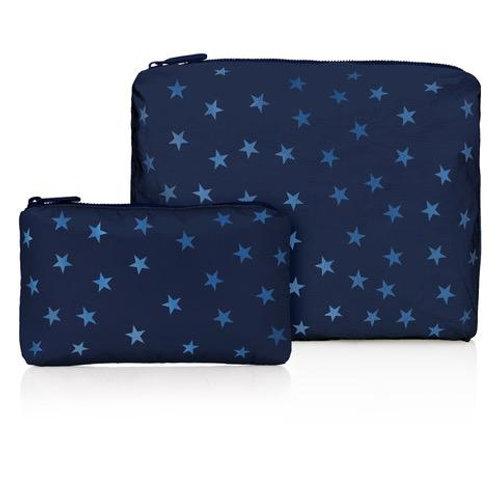 Set of 2 Travel Packs in Navy Stars