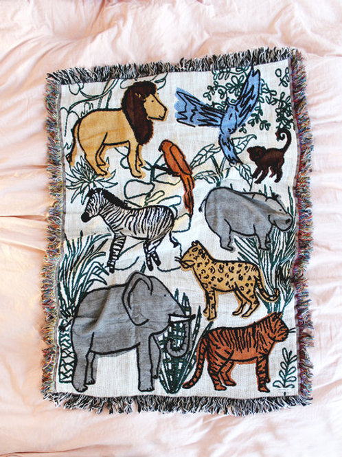 Into the Jungle Baby Throw Blanket