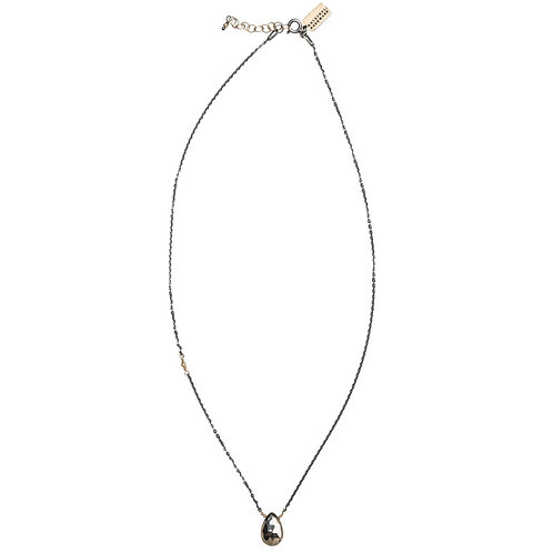 Gemstone Drop Necklace with Pyrite by Original Hardware