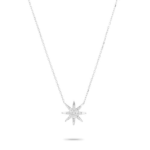 Solid Pave Starburst Necklace by Adina Reyter