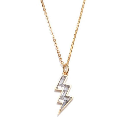 18k Gold Vermeil &  Diamond Rishi Bolt Pendant