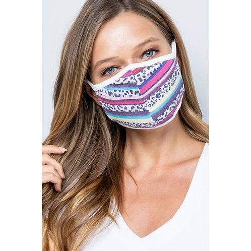 Fuchsia Patterned Face Mask