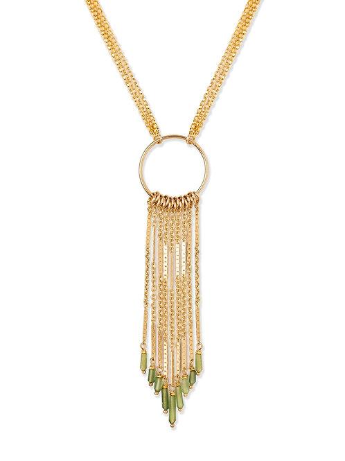 Midori Multi Fringe with Tourmaline Necklace by Kate Winternitz