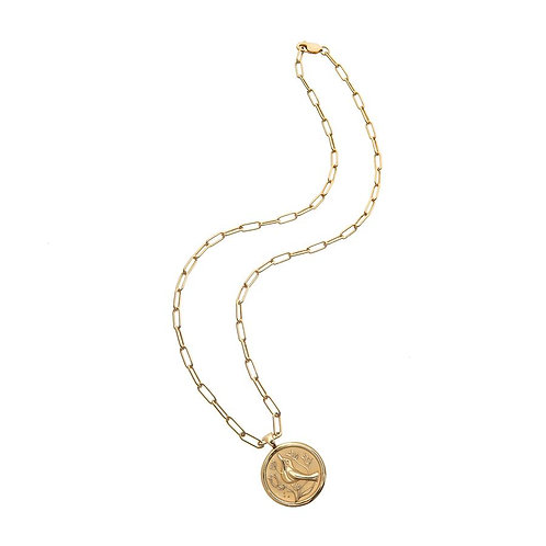 Peace Coin Pendant Necklace by Jane Win