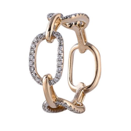 14k Diamond Link Ring By Sophia By Design
