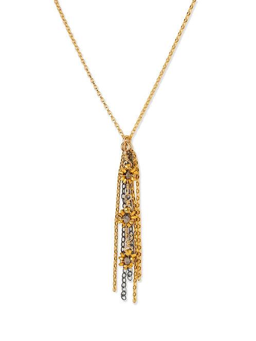 Kennedy 3  Grey Diamond Necklace by Kate Winternitz