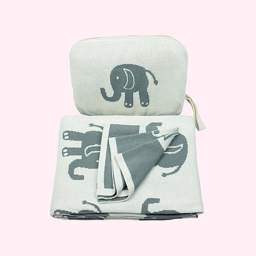 Elephant Love Baby Blanket