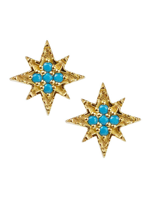 Ursa Studs with Turquoise by Lulu Designs