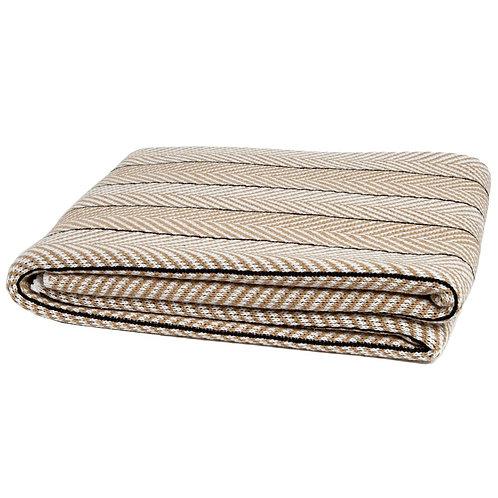 Eco Herringbone Pinstripe Throw Blanket