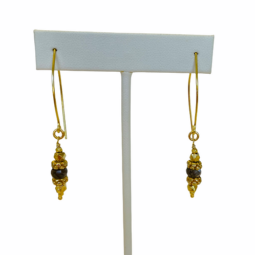 22k Gold Vermeil and Moonstone Earrings Robindira Unsworth