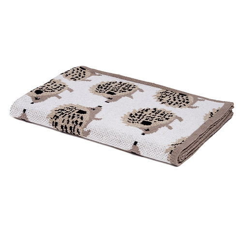 Eco Baby Hedgehog Throw Blanket by In2green