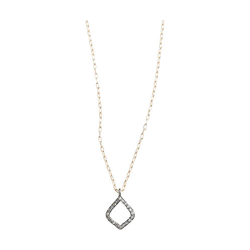Arabesque Pave Set Diamond Pendant Necklace by Original Hardware