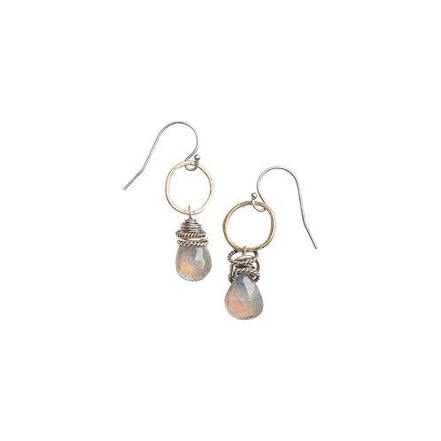 Full Circle Gemstone Earrings with Labradorite by Original Hardware