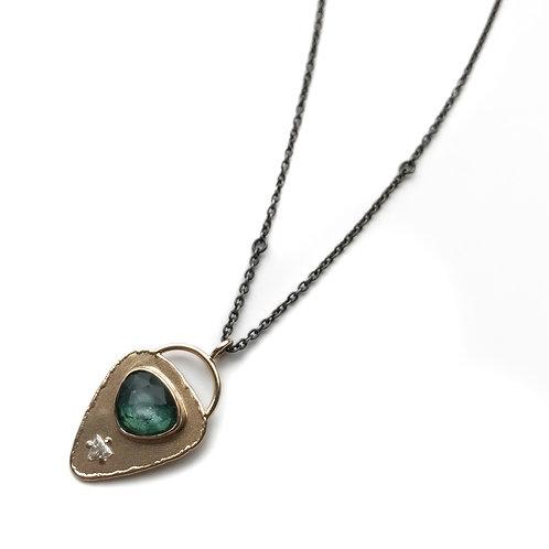 Jamie Joseph Green Tourmaline and Diamond Necklace